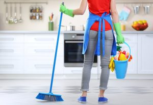 How often should the cleaning lady come