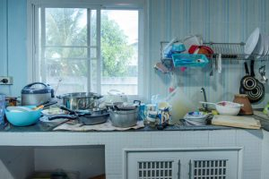 How do you clean a really dirty kitchen
