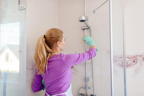How do I get grime off my shower